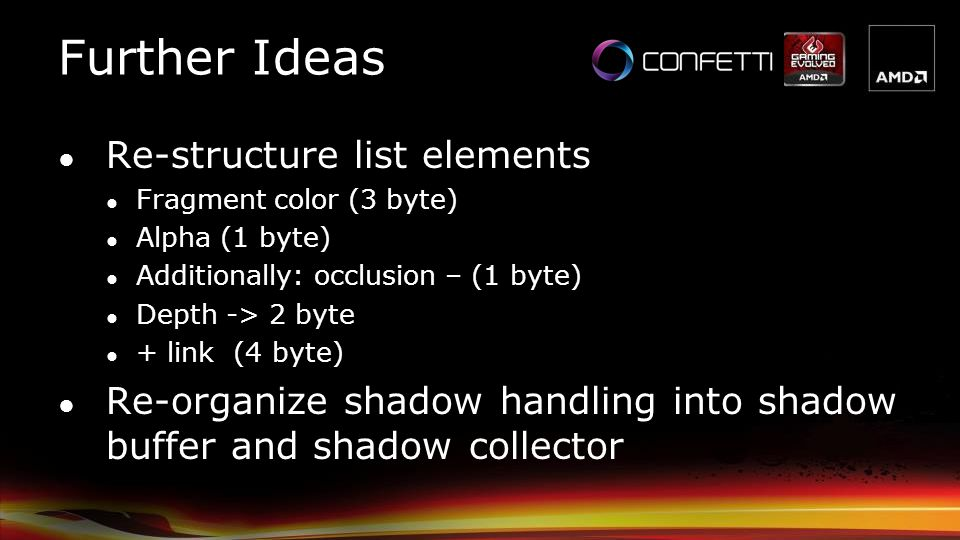 Further Ideas Re-structure list elements
