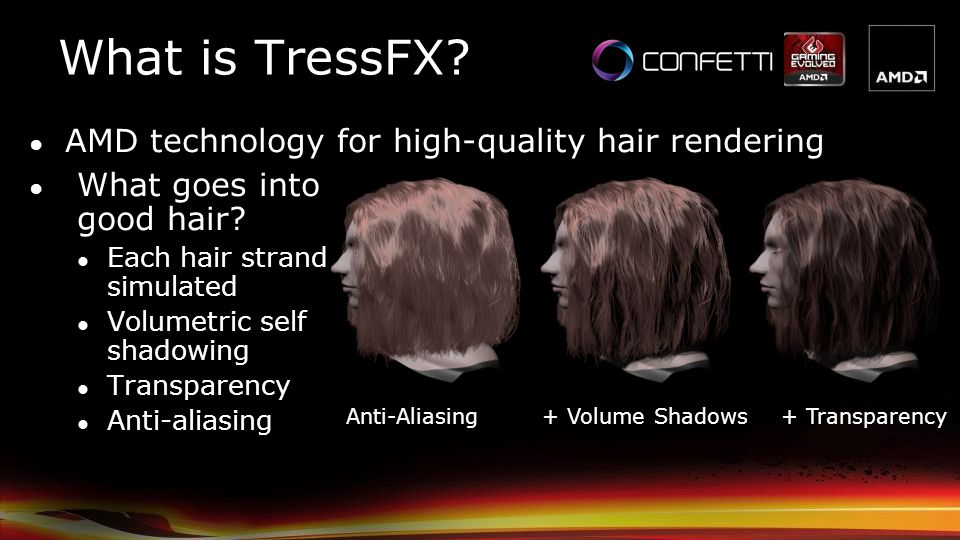 What is TressFX AMD technology for high-quality hair rendering