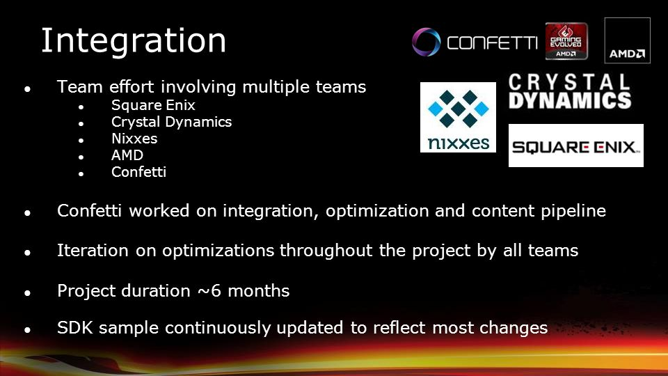 Integration Team effort involving multiple teams