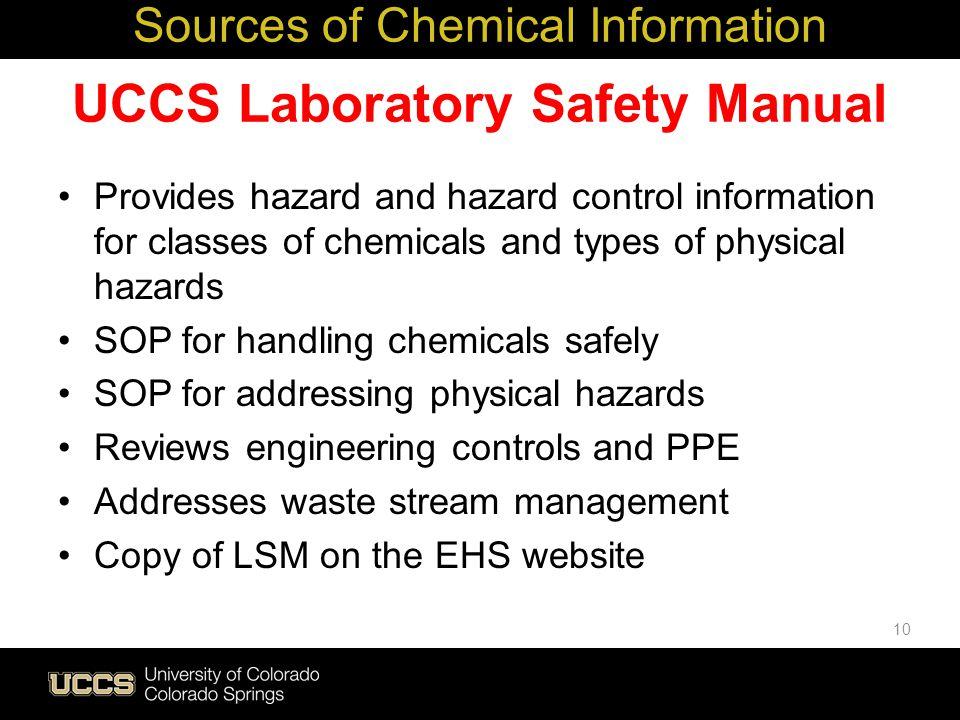 UCCS Laboratory Safety Manual