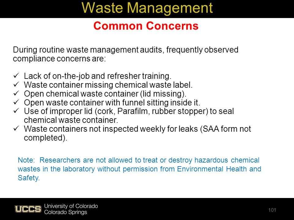 Waste Management Common Concerns