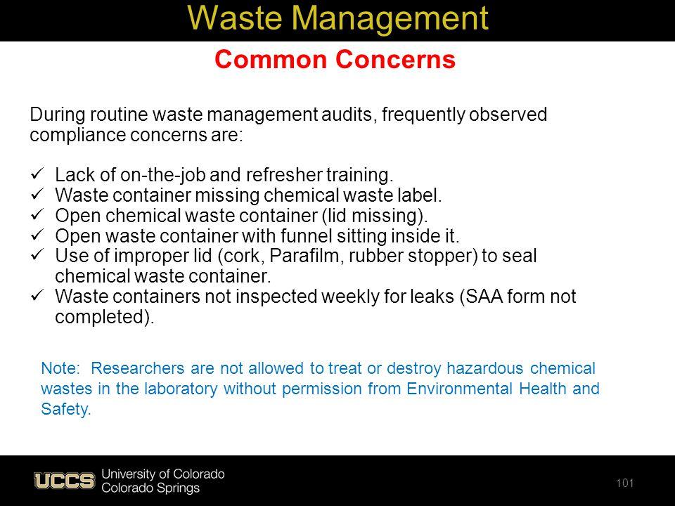 Waste Management Common Concerns