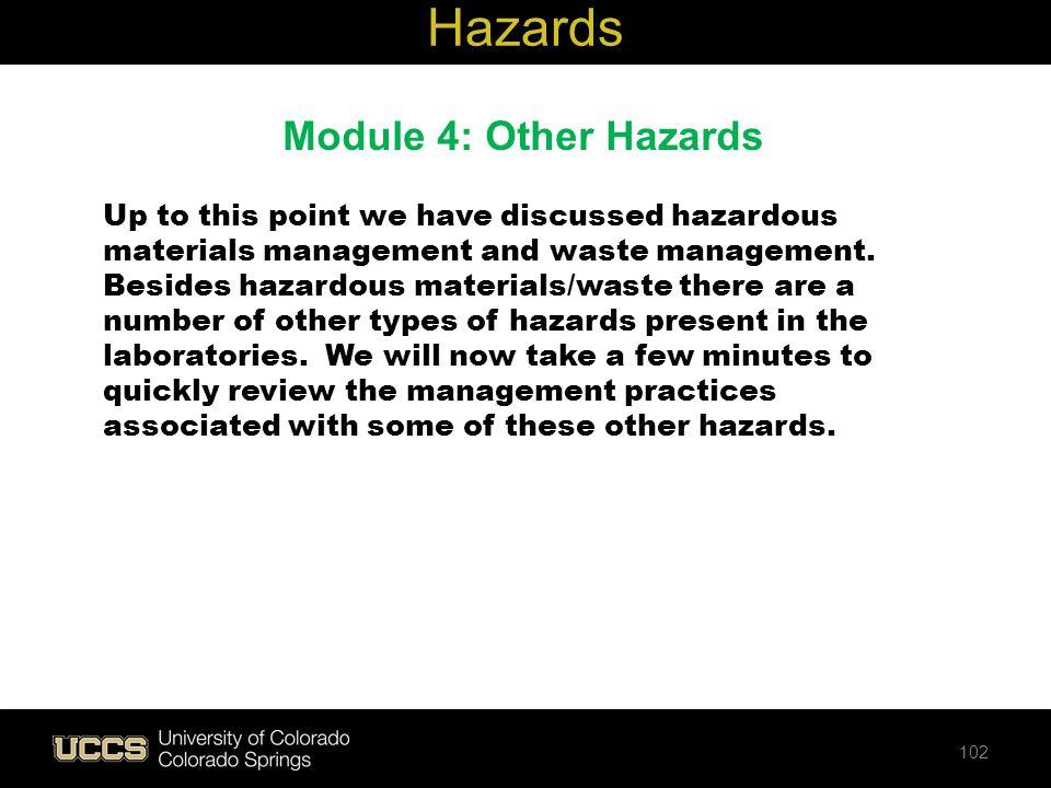 Hazards Module 4: Other Hazards