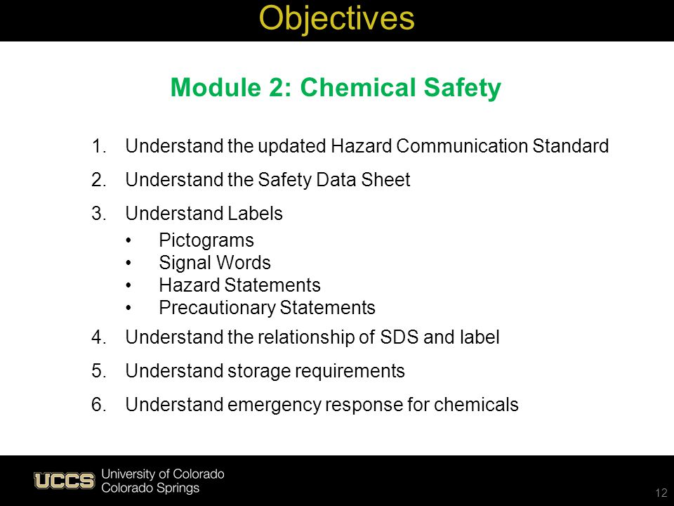 Module 2: Chemical Safety