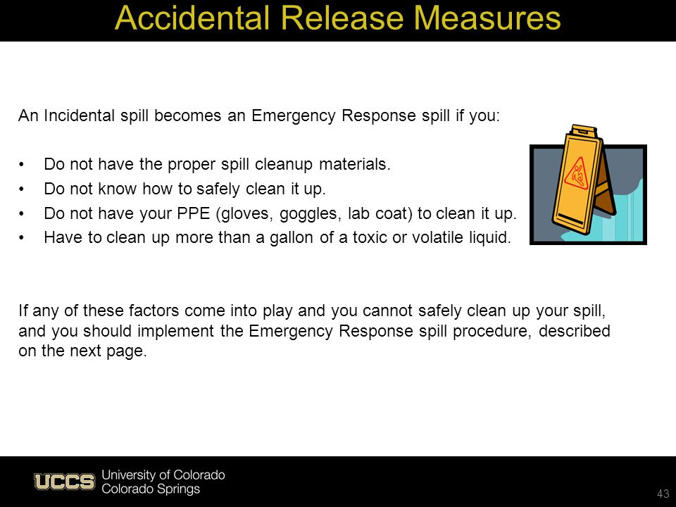 Accidental Release Measures