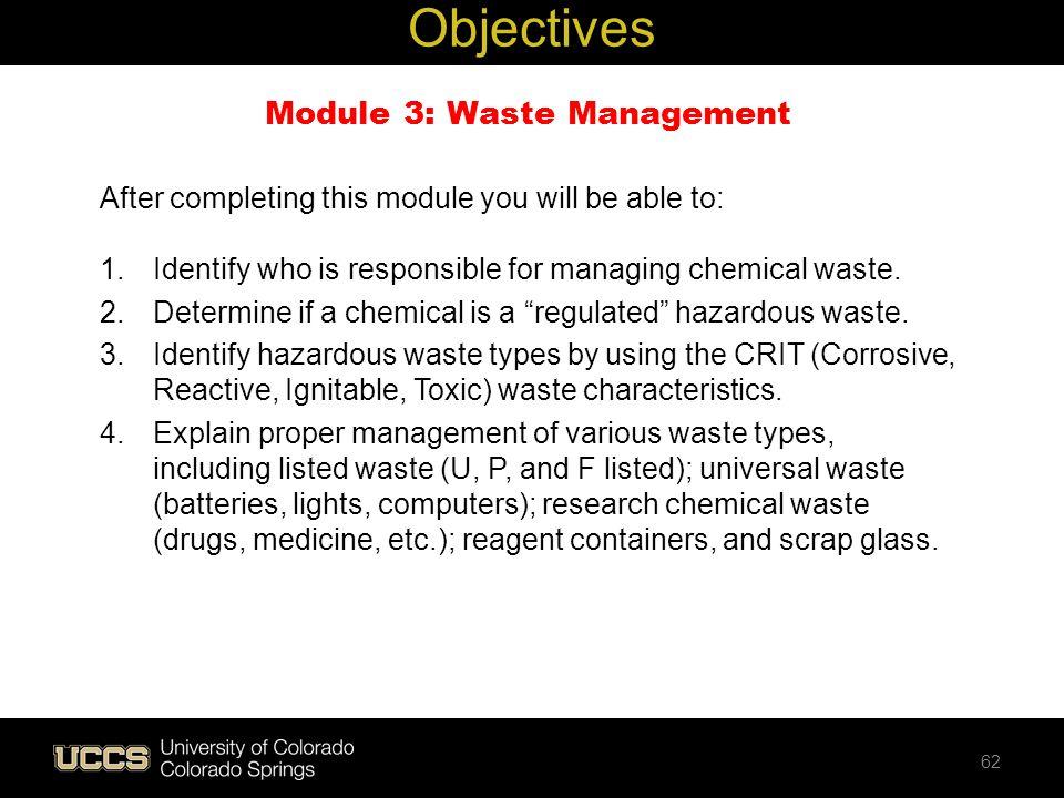 Module 3: Waste Management