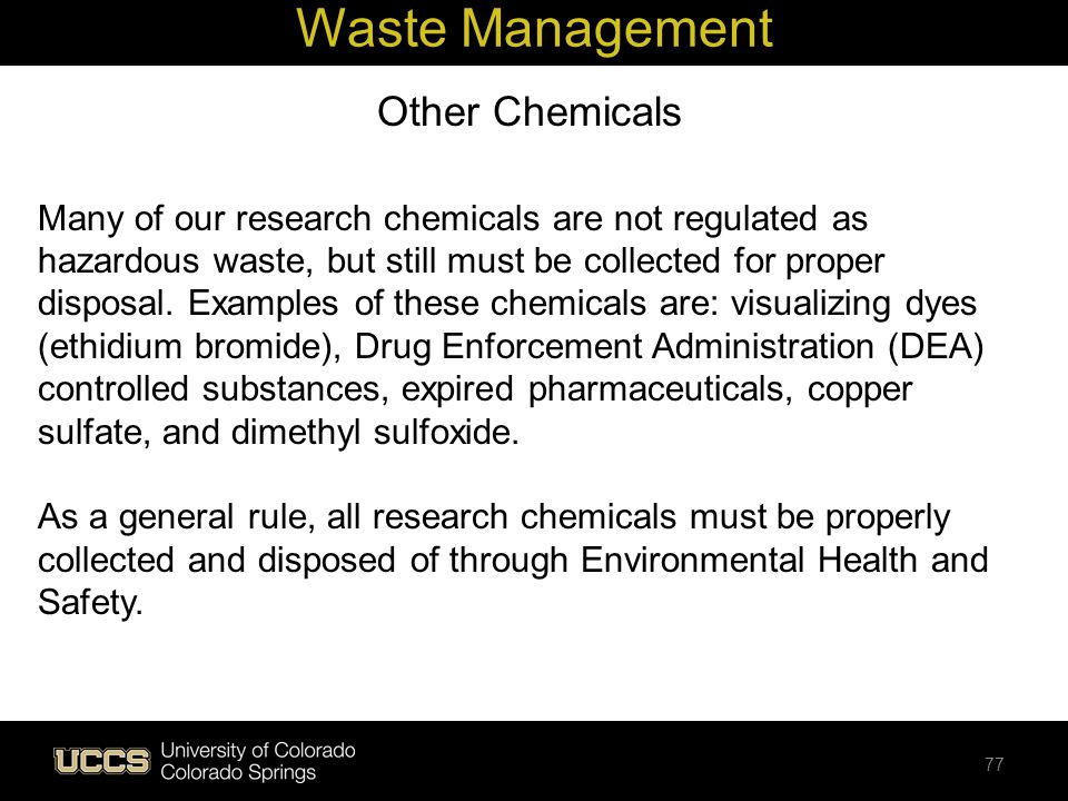 Waste Management Other Chemicals