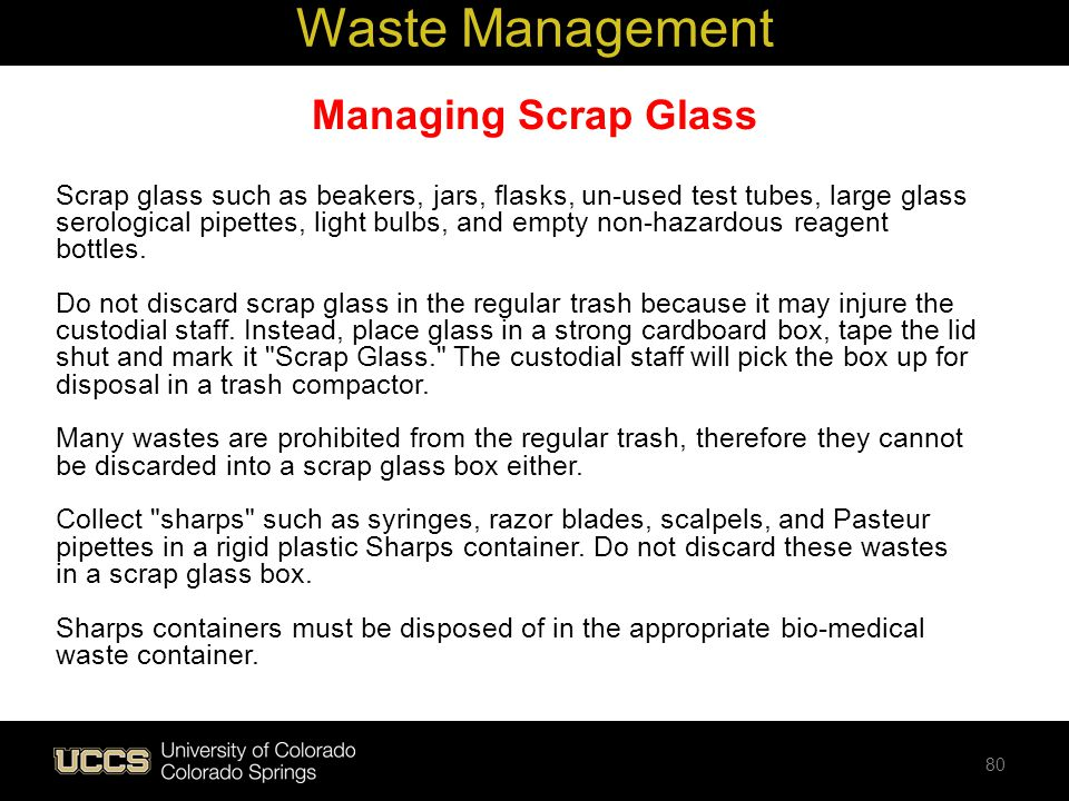 Waste Management Managing Scrap Glass