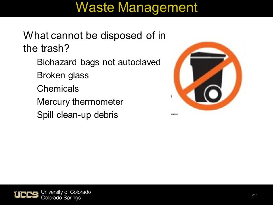 Waste Management What cannot be disposed of in the trash