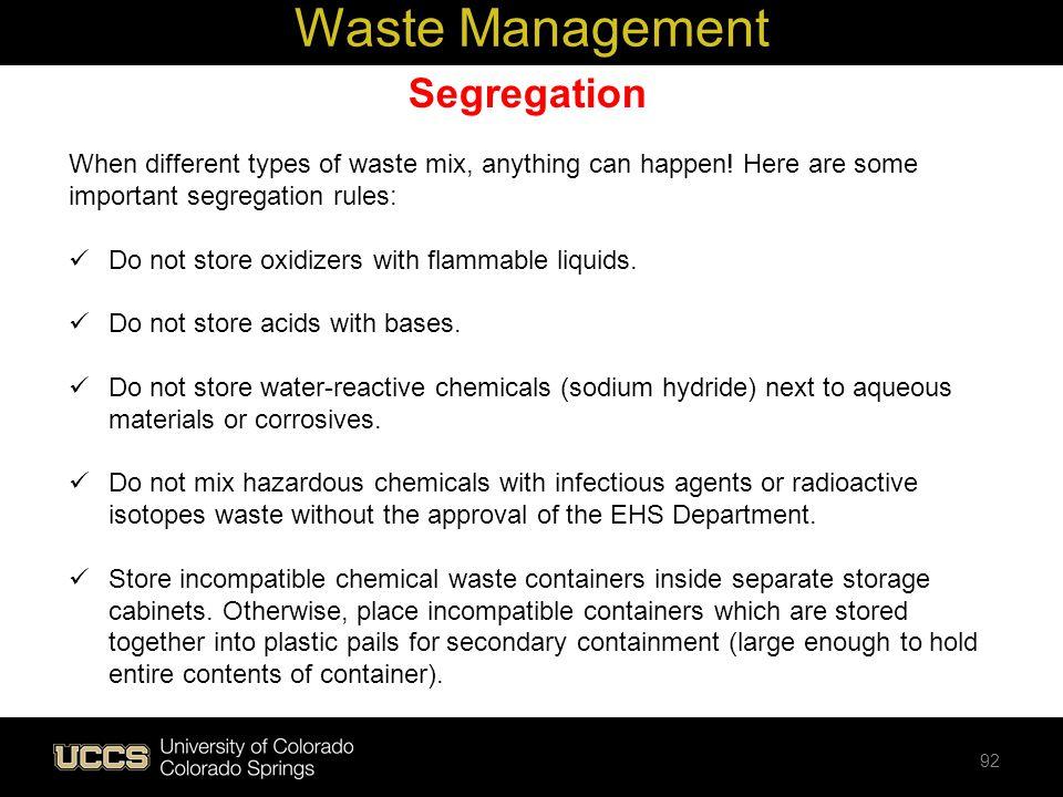 Waste Management Segregation