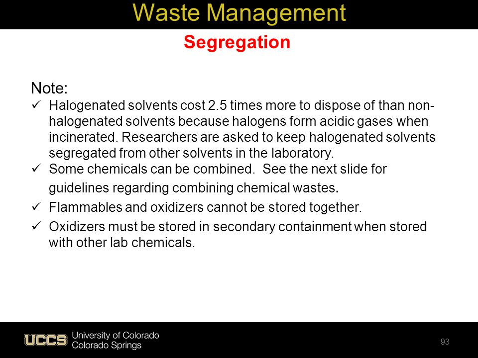 Waste Management Segregation Note: