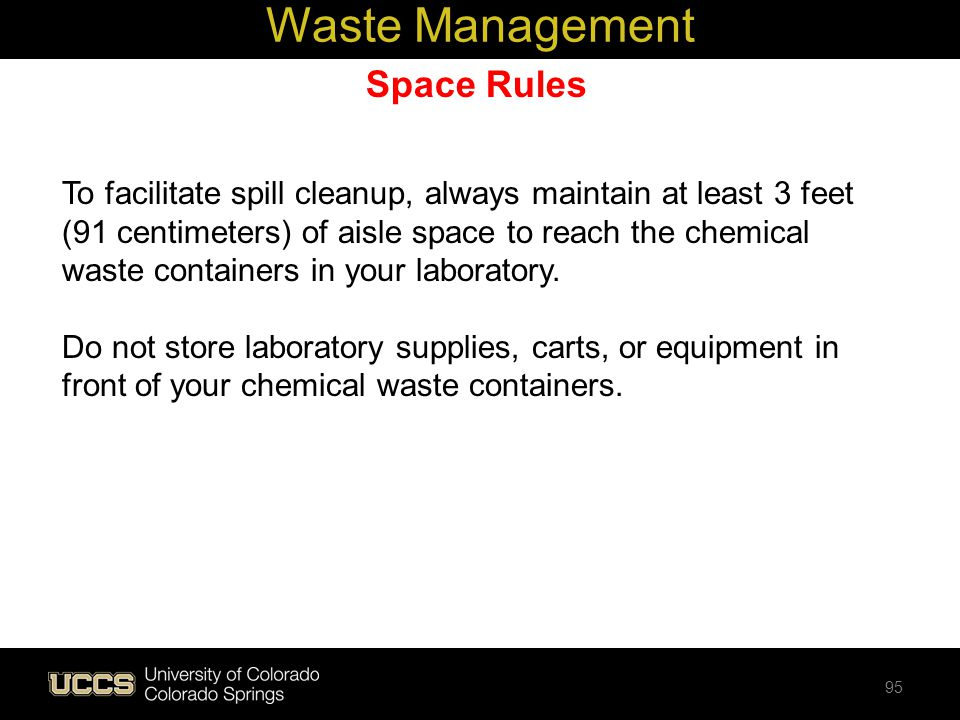 Waste Management Space Rules