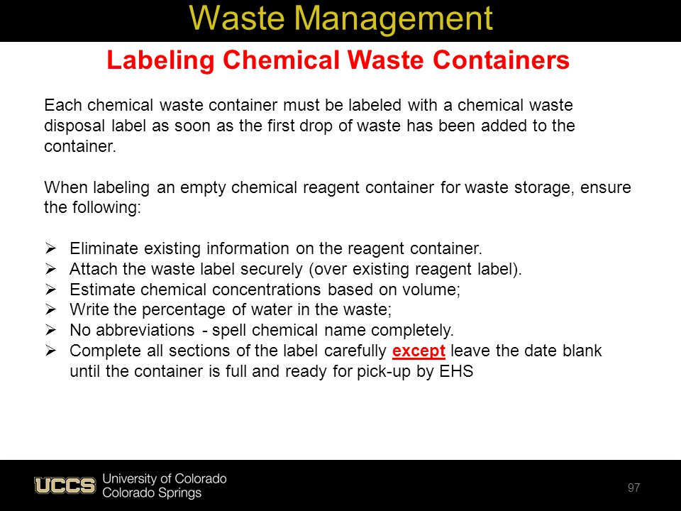 Labeling Chemical Waste Containers