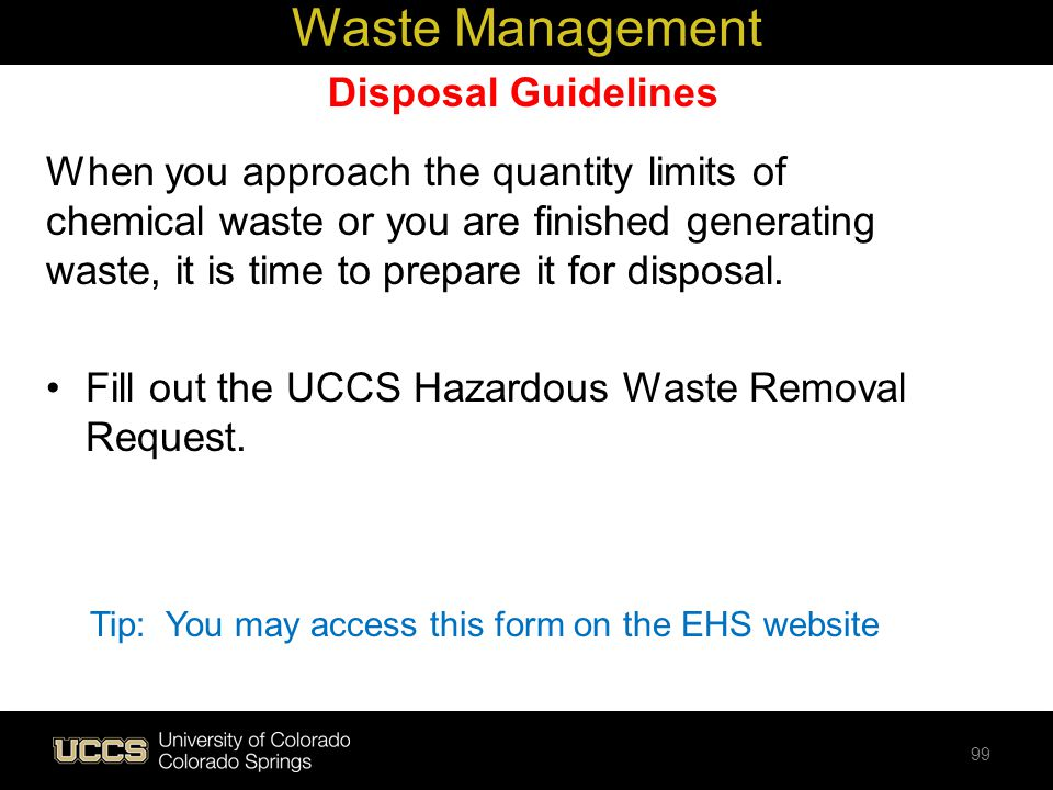 Waste Management Disposal Guidelines