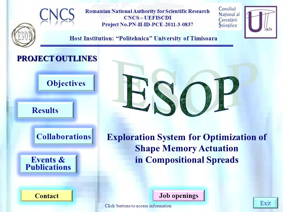 ESOP ESOP Exploration System for Optimization of