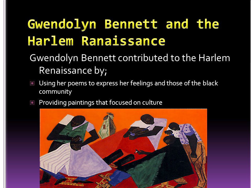 Gwendolyn Bennett and the Harlem Ranaissance