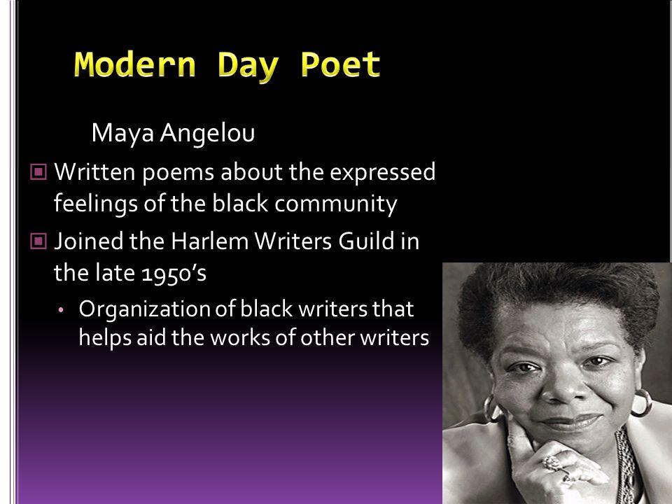 Modern Day Poet Maya Angelou