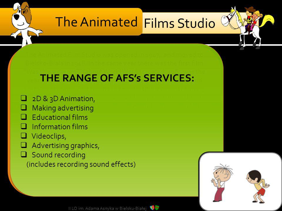 THE RANGE OF AFS's SERVICES: