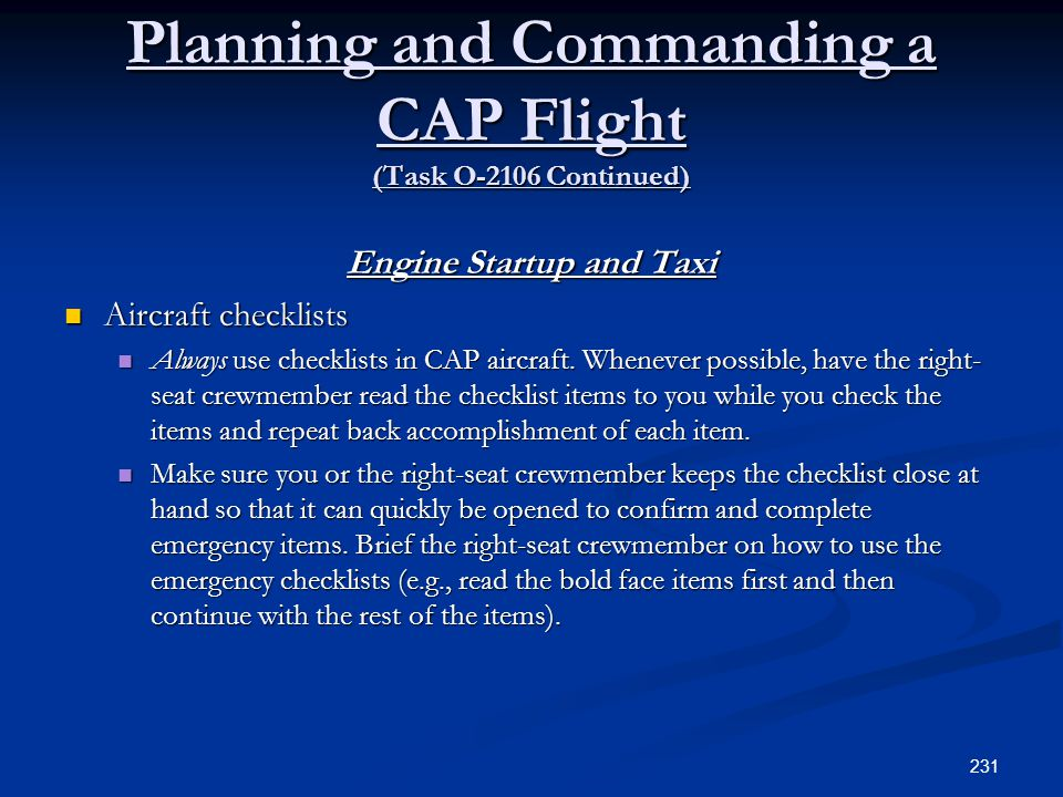 Planning and Commanding a CAP Flight (Task O-2106 Continued)
