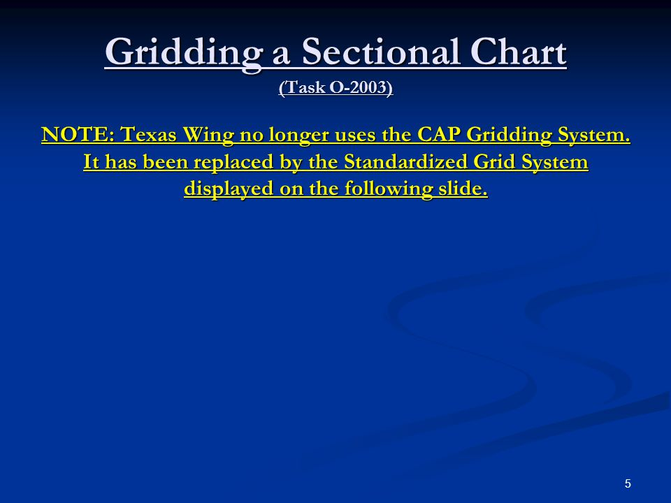 Gridding a Sectional Chart (Task O-2003)