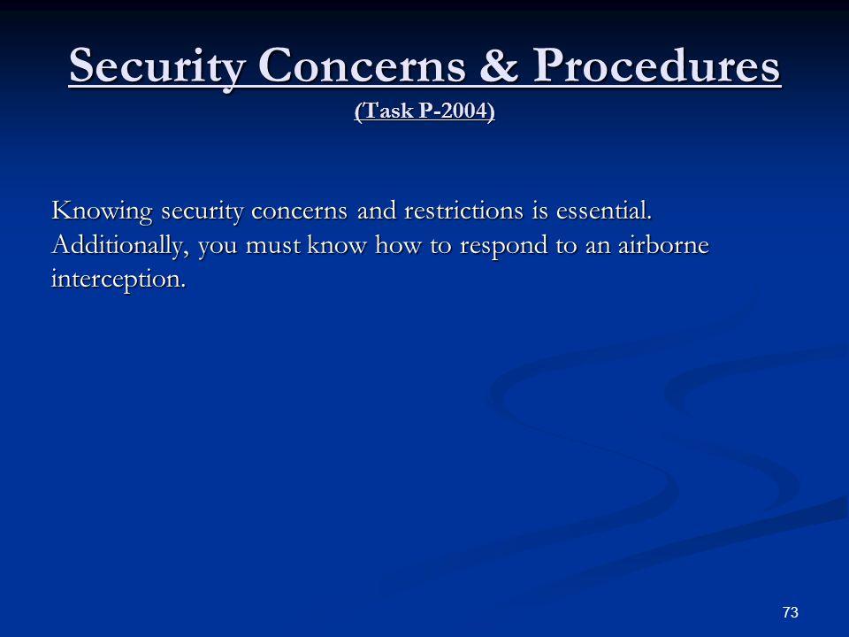 Security Concerns & Procedures (Task P-2004)