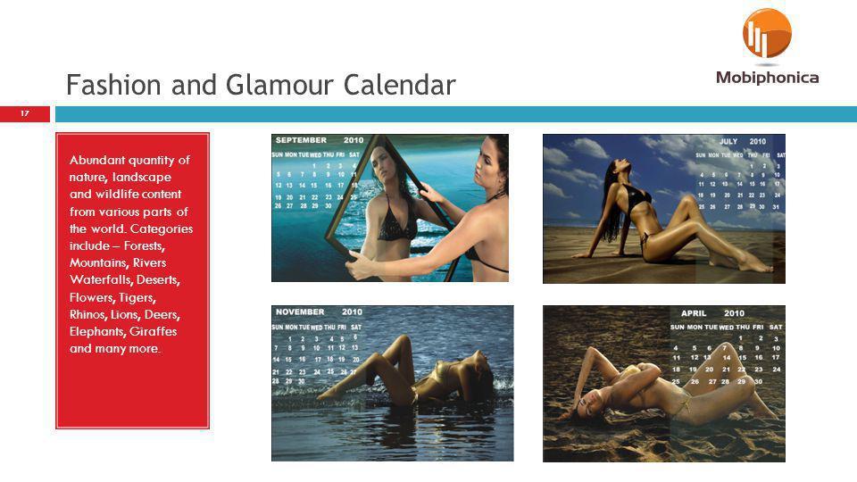 Fashion and Glamour Calendar