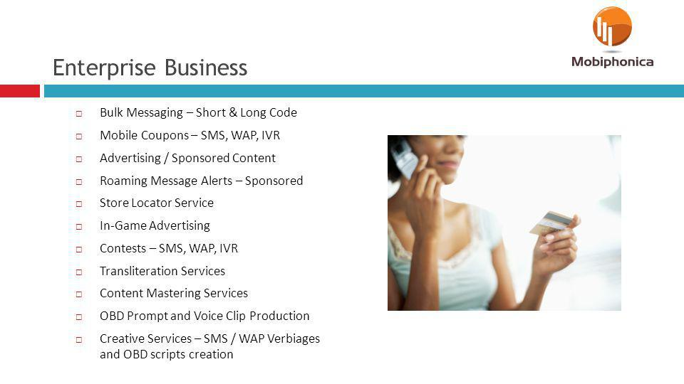 Enterprise Business Bulk Messaging – Short & Long Code