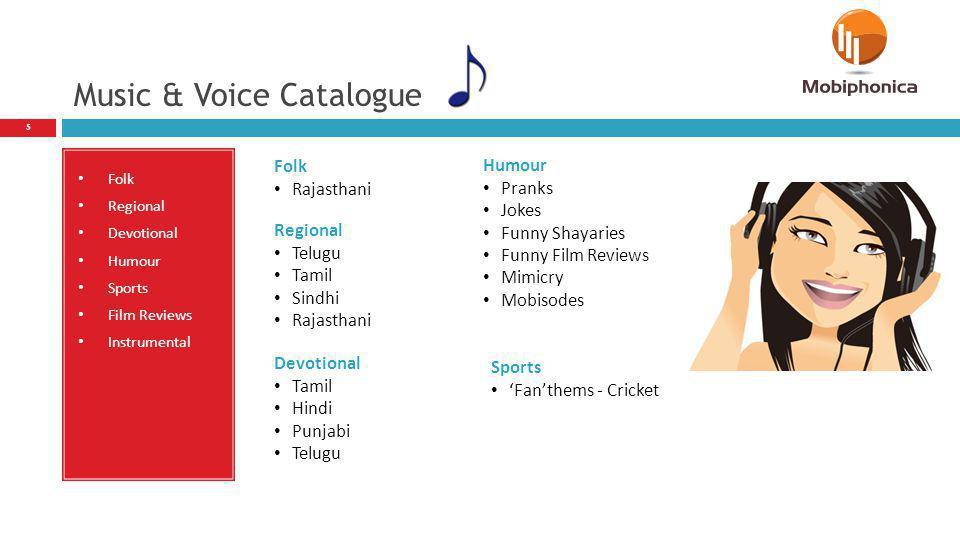 Music & Voice Catalogue
