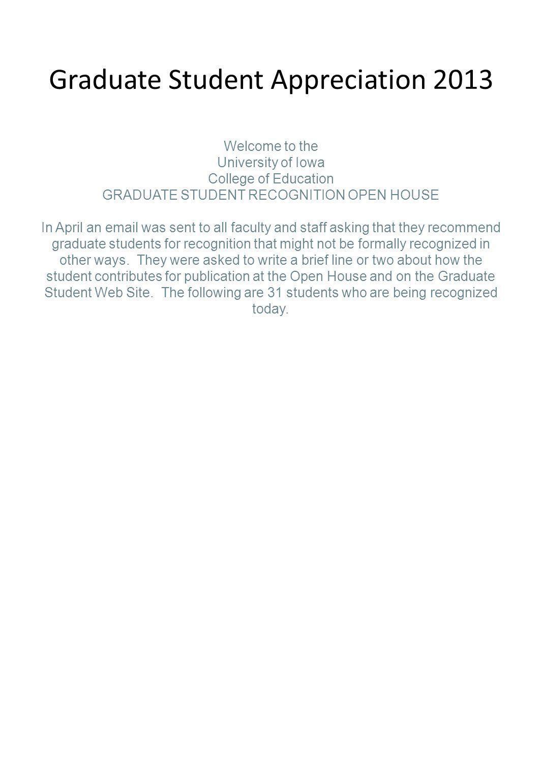 Graduate Student Appreciation 2013
