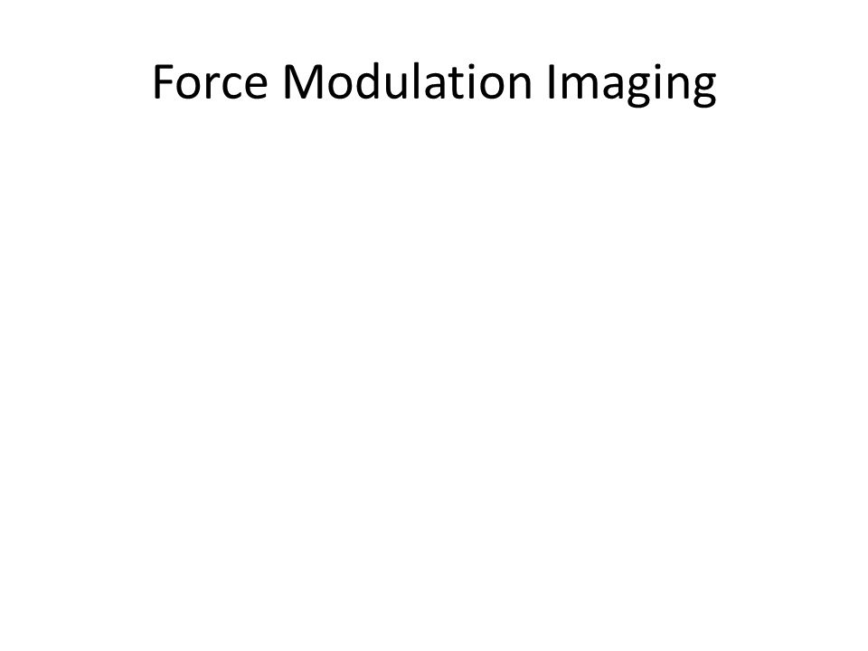 Force Modulation Imaging