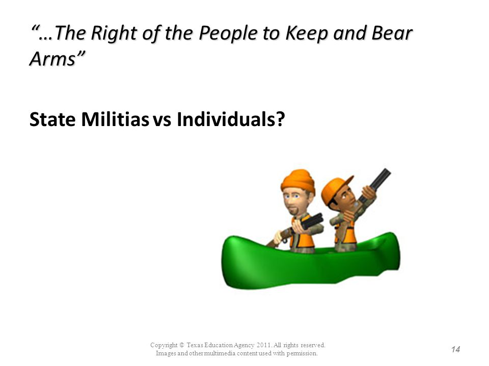 …The Right of the People to Keep and Bear Arms