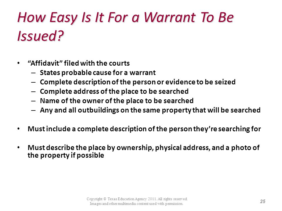 How Easy Is It For a Warrant To Be Issued