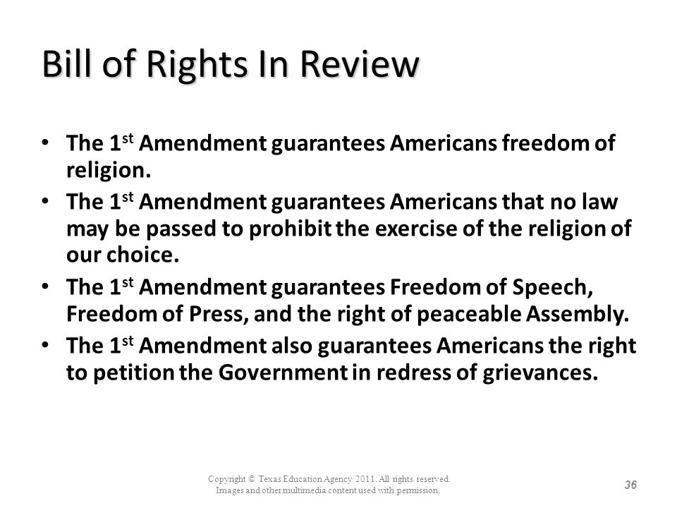 Bill of Rights In Review