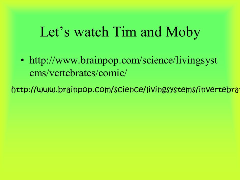 Let's watch Tim and Moby