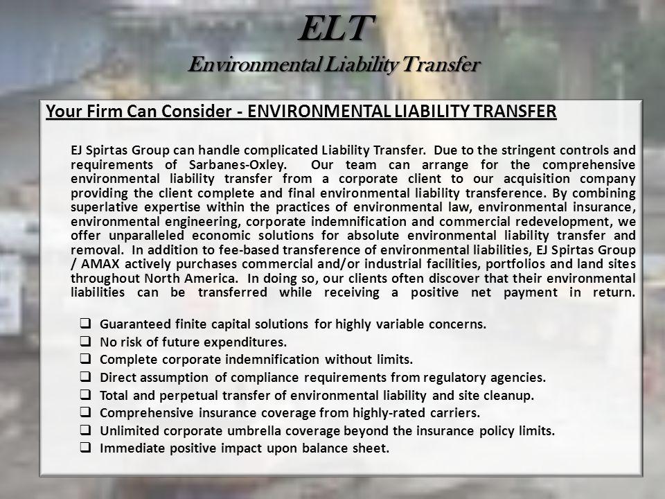 ELT Environmental Liability Transfer