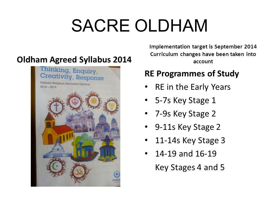 SACRE OLDHAM Oldham Agreed Syllabus 2014 RE Programmes of Study