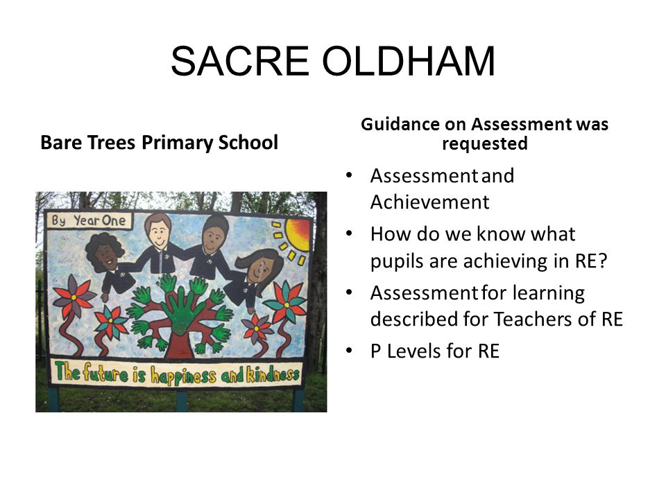 Guidance on Assessment was requested