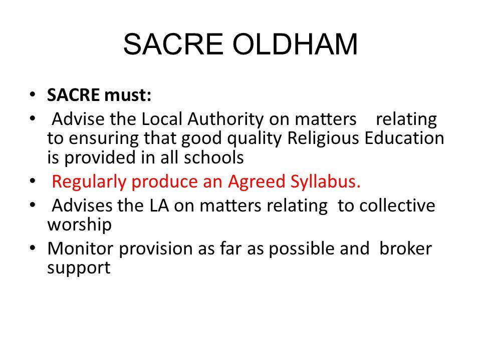 SACRE OLDHAM SACRE must: