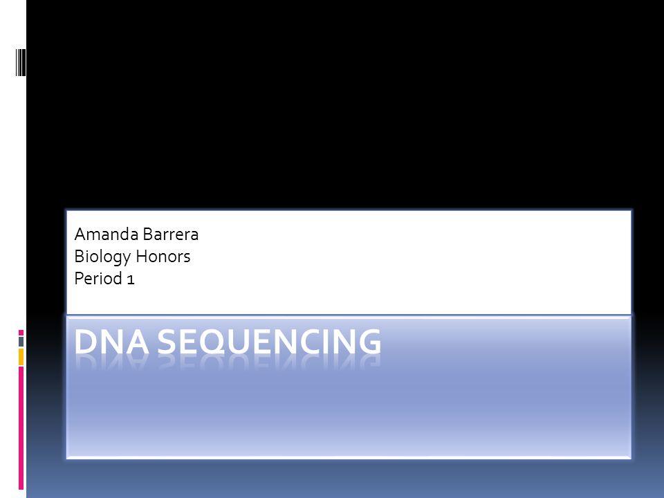 Amanda Barrera Biology Honors Period 1