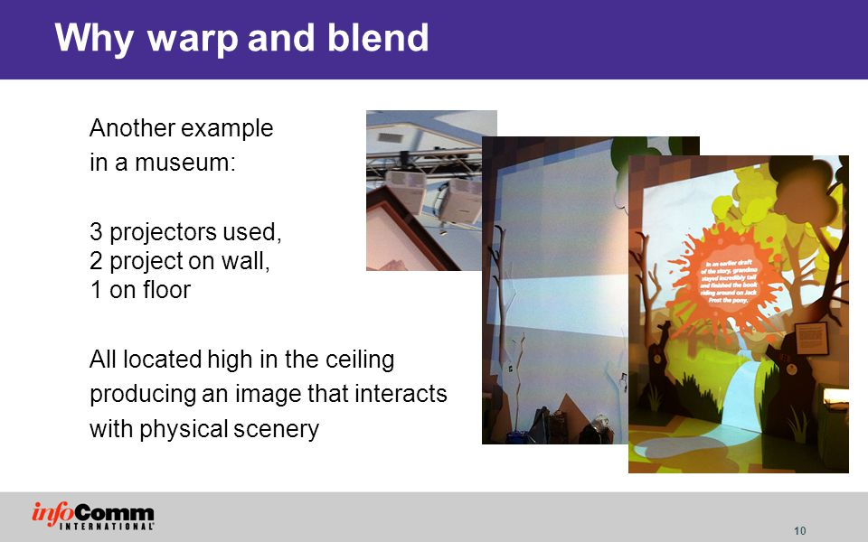 Why warp and blend Another example in a museum: