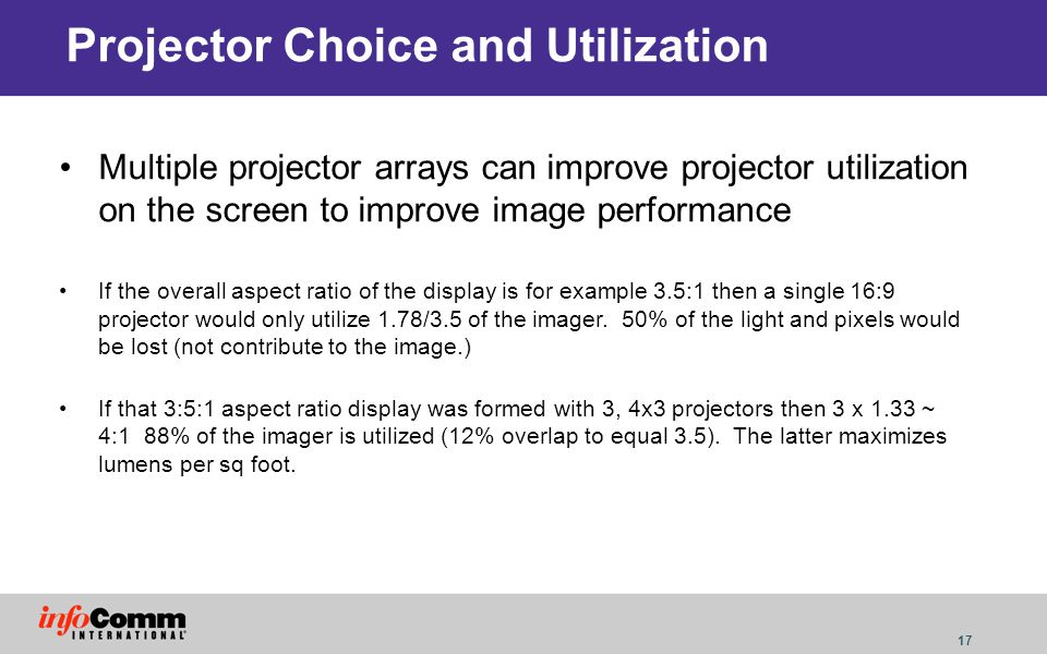 Projector Choice and Utilization
