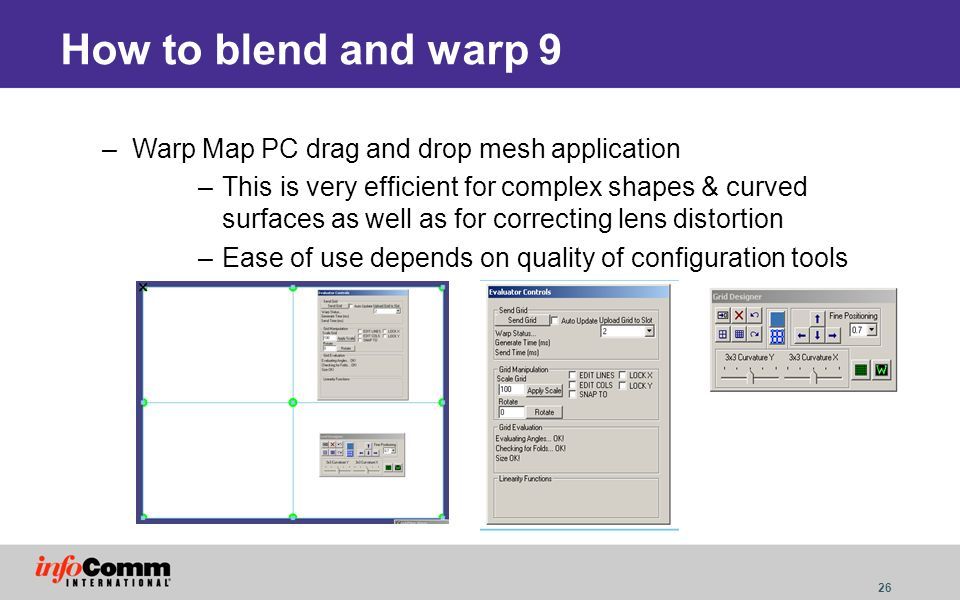 How to blend and warp 9 Warp Map PC drag and drop mesh application