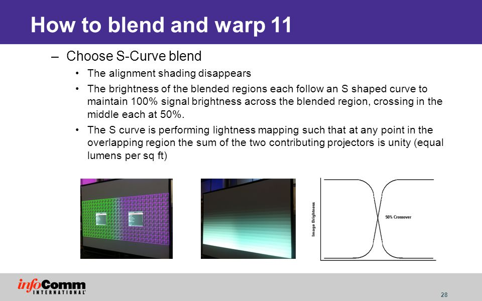 How to blend and warp 11 Choose S-Curve blend