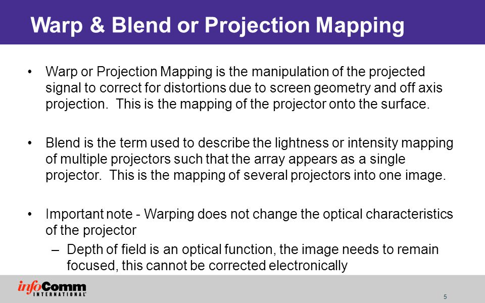 Warp & Blend or Projection Mapping