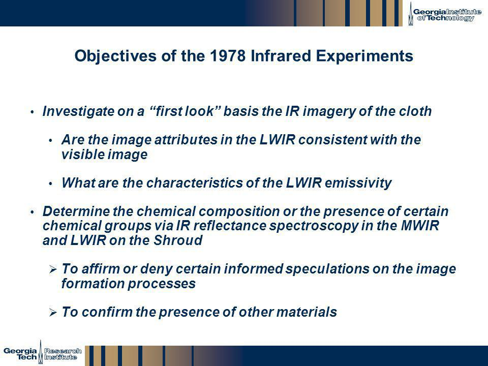 Objectives of the 1978 Infrared Experiments