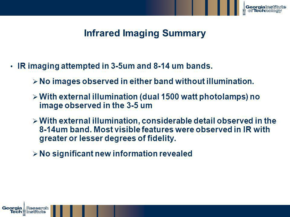 Infrared Imaging Summary
