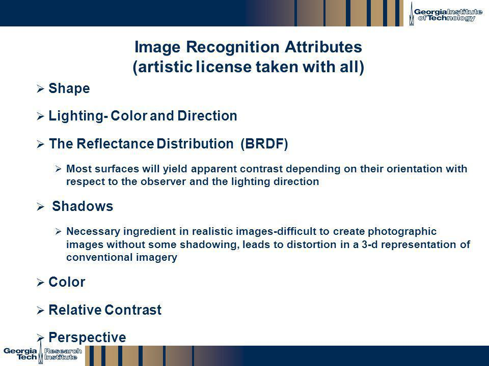 Image Recognition Attributes (artistic license taken with all)