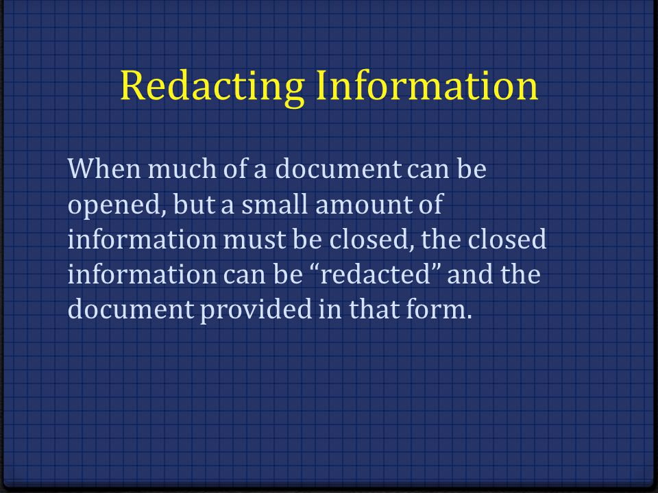 Redacting Information