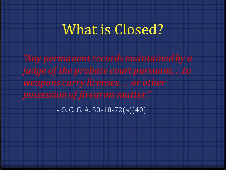 What is Closed