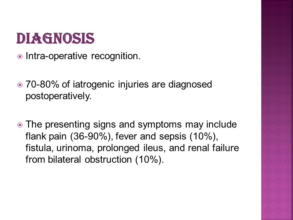 diagnosis Intra-operative recognition.